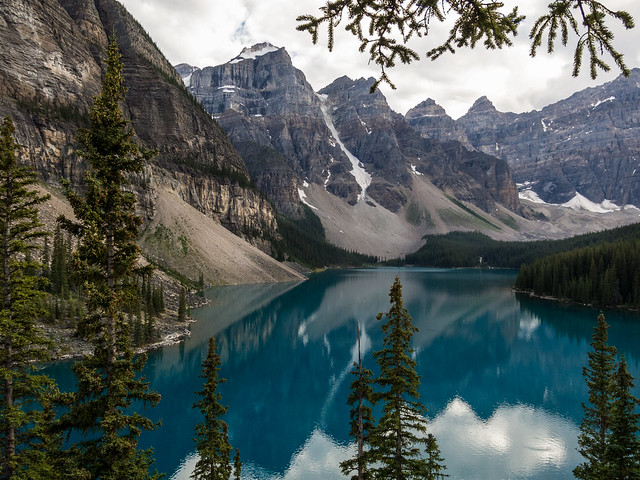 Moraine Lake above Lake Louise