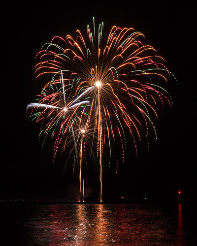 Fireworks, Algoma, Shanty Days, Reflection