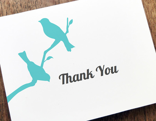 Love Birds Thank You Note Template | Flickr - Photo Sharing!