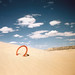 Small photo of Aerobee in the Wyoming sands