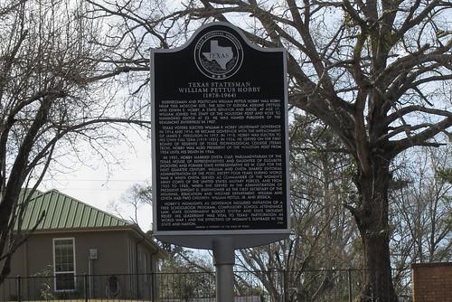 usa sign geotagged texas unitedstates moscow texashistoricalmarker williamphobby geo:lat=3091937649 geo:lon=9482619457 texashistorycommission
