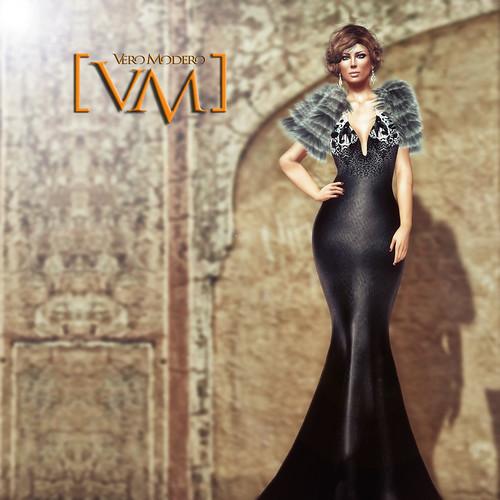 [VM] VERO MODERO  Inci Gown Black