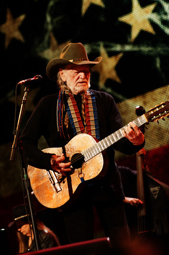 Willie Nelson at Farm Aid at Saratoga Performing Arts Center on September 21, 2013 in Saratoga Springs, New York.