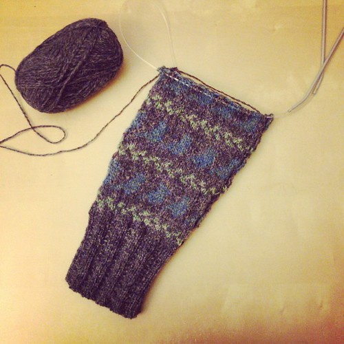 Half a sleeve. #knitting
