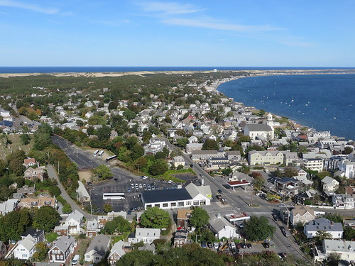 view of Provincetown, from the Pilgrim Monument