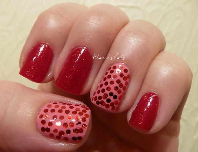 pink & red sequins 1