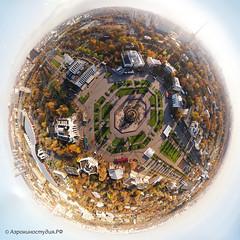 Аэроaсъемка в Москве на ВДНХ
