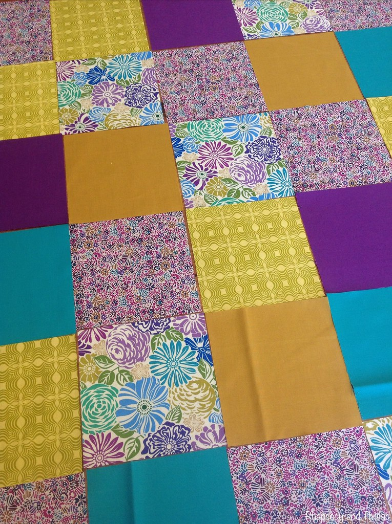 Happy As Clarry Bubba Quilt (in progress) by Rhapsody and Thread