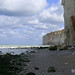 Sunny sea-scape with cliffs - wide view over the shore and quite surf near Petit-Dalle in Normandy France with a quiet sea; landscape photography, Fons Heijnsbroek 2007 ©Amsterdam City - urban portrait in photo pictures