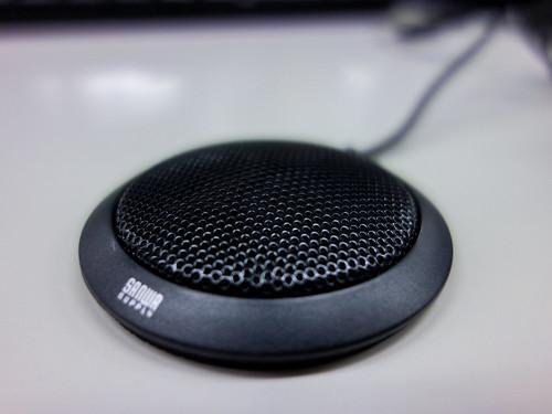 サンワサプライ PC用マイク 薄型高性能マイク MM-MC23