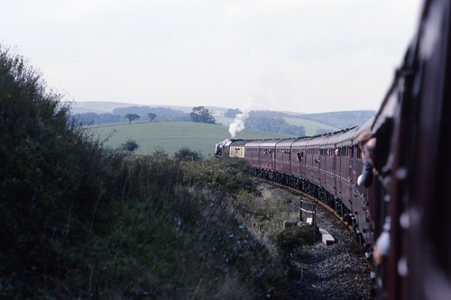 LMS 8P Coronation 4-6-2 46229 'Duchess of Hamilton' with 'hot box' on CME 18.9.1993 Scans862