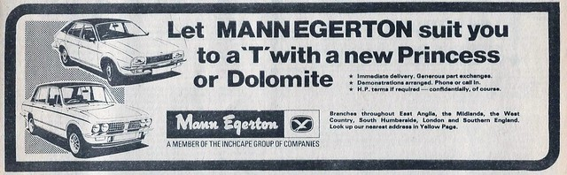 1978 ADVERT - MANN EGERTON