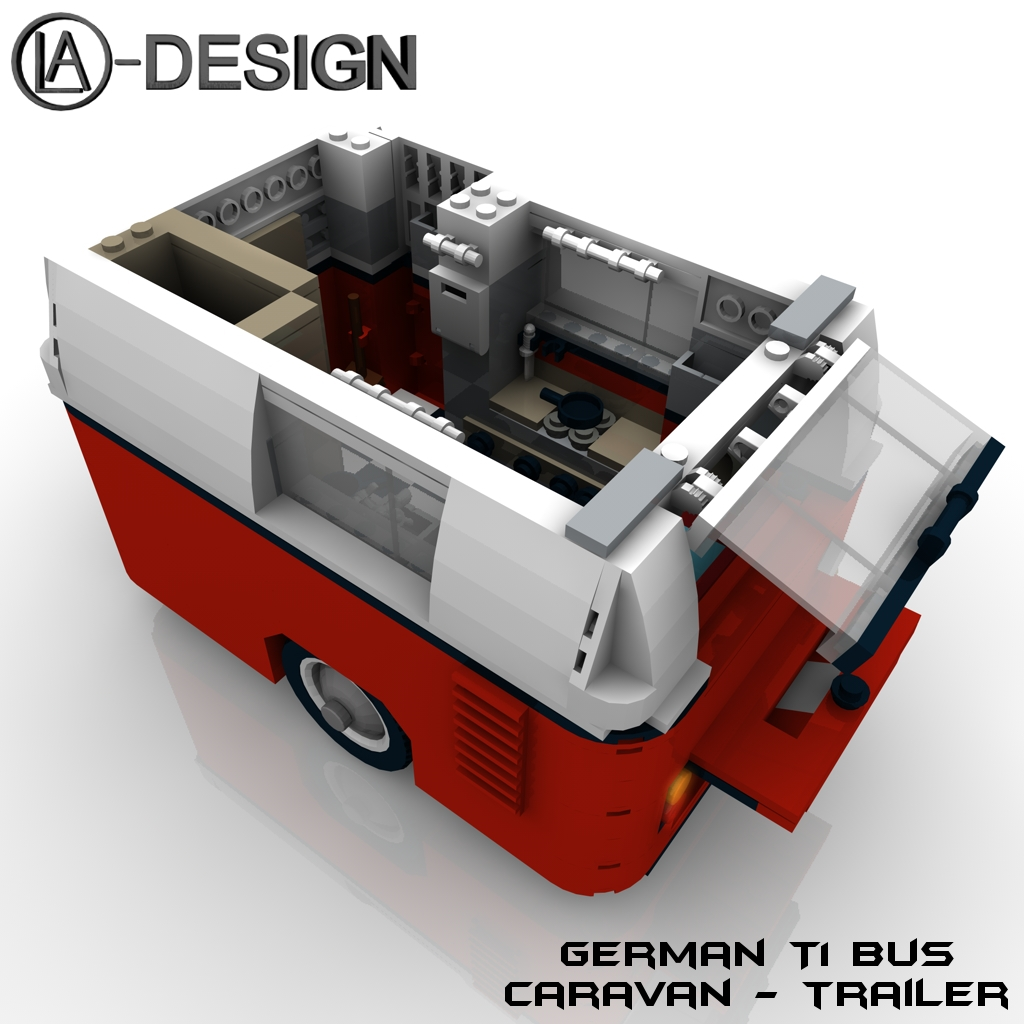 lego custom wohnwagen vw t1 bus 7 a photo on flickriver. Black Bedroom Furniture Sets. Home Design Ideas