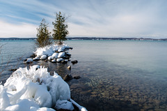 Frozen Islet on Torch Lake