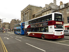 Another recent repaint, Lothian 923 at West End heading west on a service 33 to Baberton. 03rd December 2013....
