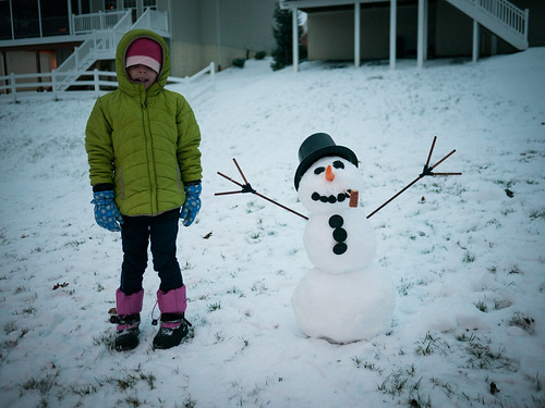 Our first snowman