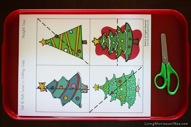 Christmas Tree Cutting Activity