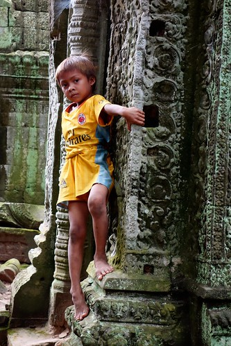 Local boy at Ta Prohm