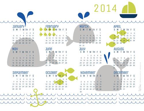 2014 RS Whales Calendar