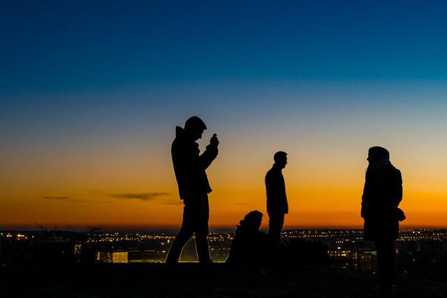 Fotos con la puesta de sol