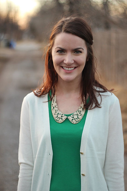 green-shirt-with-collar,-white-cardigan-6