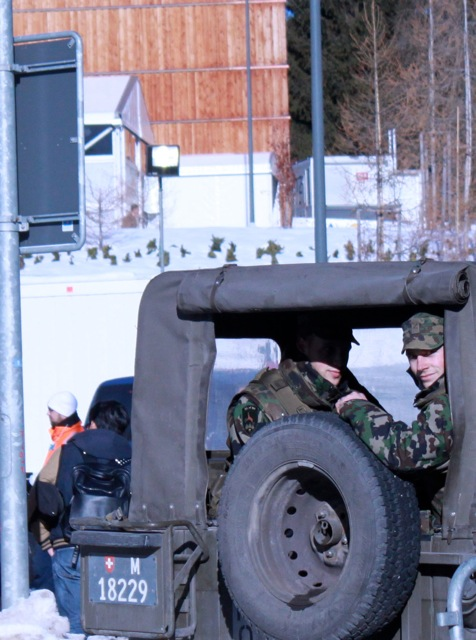 There are over 1,000 ground soldiers patrolling the streets of Davos and surrounding areas.
