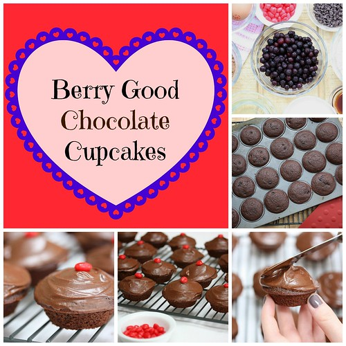 Berry Good Chocolate Cupcakes via MealMakeoverMoms.com/kitchen