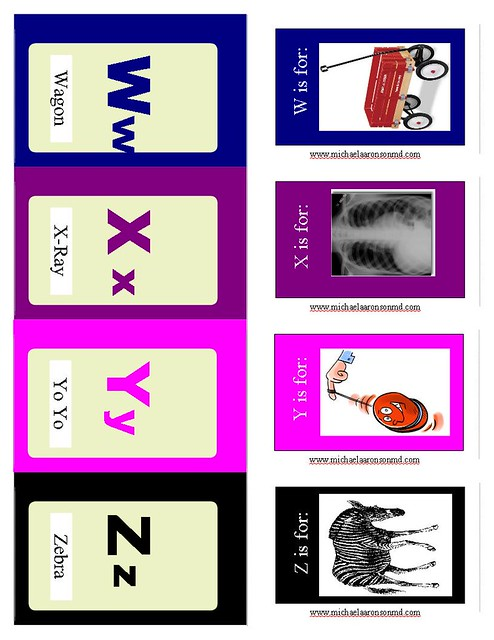 Aaronson Flash Cards W to Z