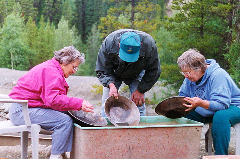 Placer Gold Panning, Manson Creek, Omineca Region, Northern British Columbia, Canada
