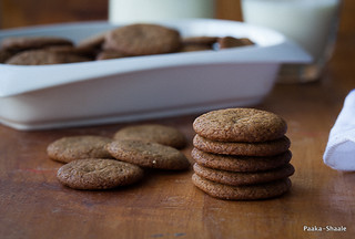 Almost vegan ginger snaps