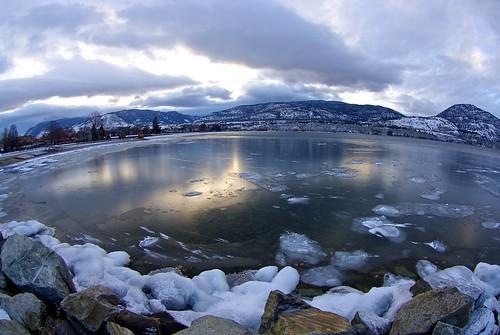 winter sunset lake canada ice landscape pentax britishcolumbia okanagan fisheye penticton okanaganlake k20d nigeldawson smcpentaxda1017mmf3545fisheyeedif jasbond007 copyrightnigeldawson2014