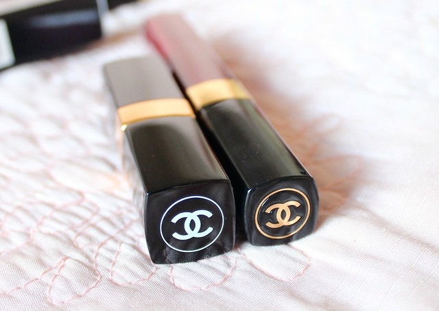 Chanel Savage Garden Glossimer and Rouge Coco Shine Fiction Lipstick Review 3