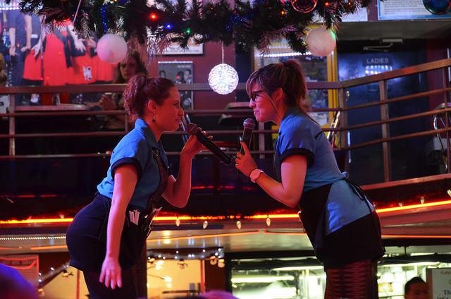 Camareros del Ellen's Stardust de Nueva York