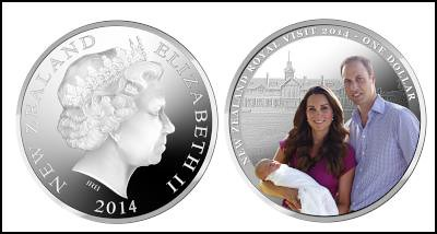 New Zealand Duke and Duchess of Cambridge visit coin