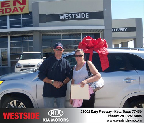 Happy Anniversary to Tanya Dusek on your 2013 #Kia #Sorento from Jerry Moore  and everyone at Westside Kia! #Anniversary by Westside KIA