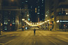 Downtown Chicago at four in the morning by Casey N. Garner