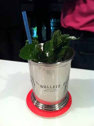 Mint Julep de Bulleit en el stand de Diageo Reserve.