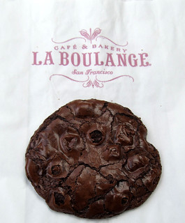 LA Boulange Flourless Chocolate Cookie at Starbucks Heated = Delish!