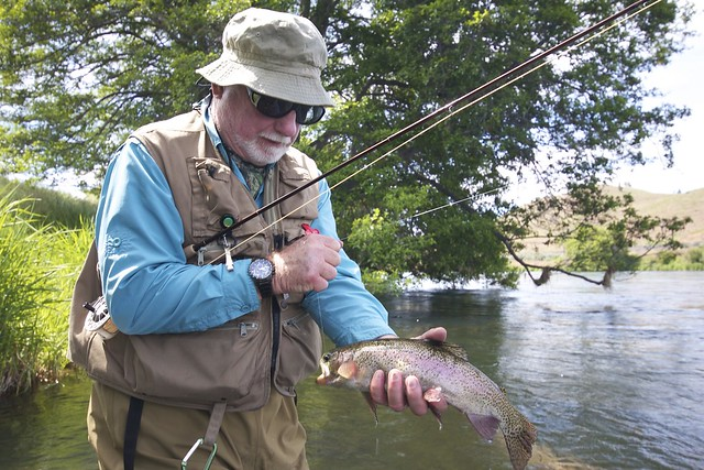 Tom Daugherty with a Deschutes River Redside