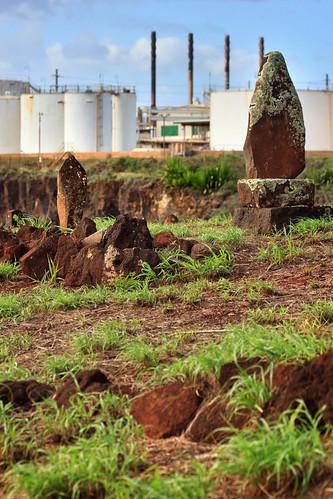 cemetery graveyard japanese hawaii headstones graves kauai chevron refinery glassbeach portallen eleele