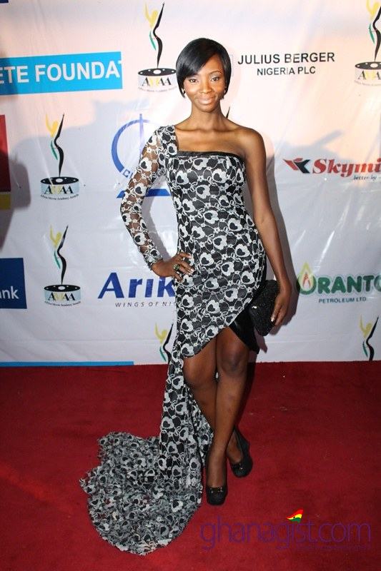 Nollywood actress Ivie Okujaye at Africa Movie Academy Awards 2014