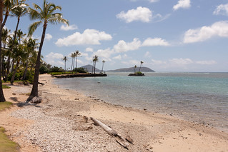 Image of Kahala Beach near Honolulu. hawaii unitedstates honolulu
