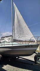 sail, sailboat, vehicle, skiff, mast, watercraft, dinghy sailing, boat,