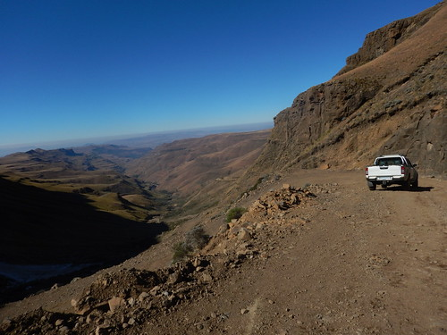 Switchbacks up the Sani Pass