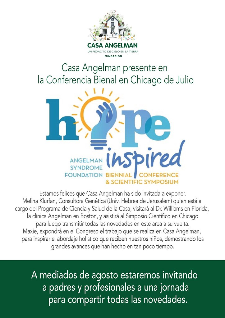 Casa Angelman expone en Conferencia Bianual sobre SA en Chicago