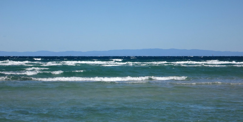 D'Aguilar Range seen from Moreton Island