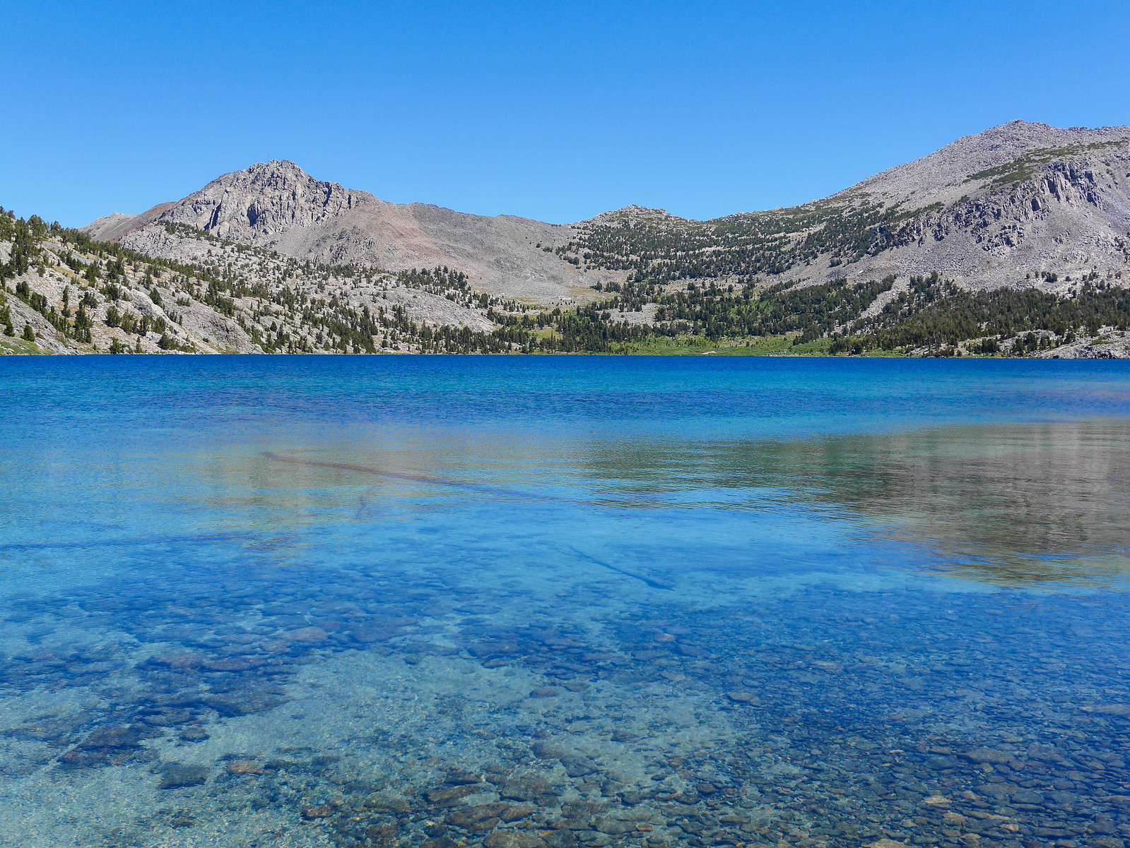 Duck Lake is famous for its especially clear/blue water