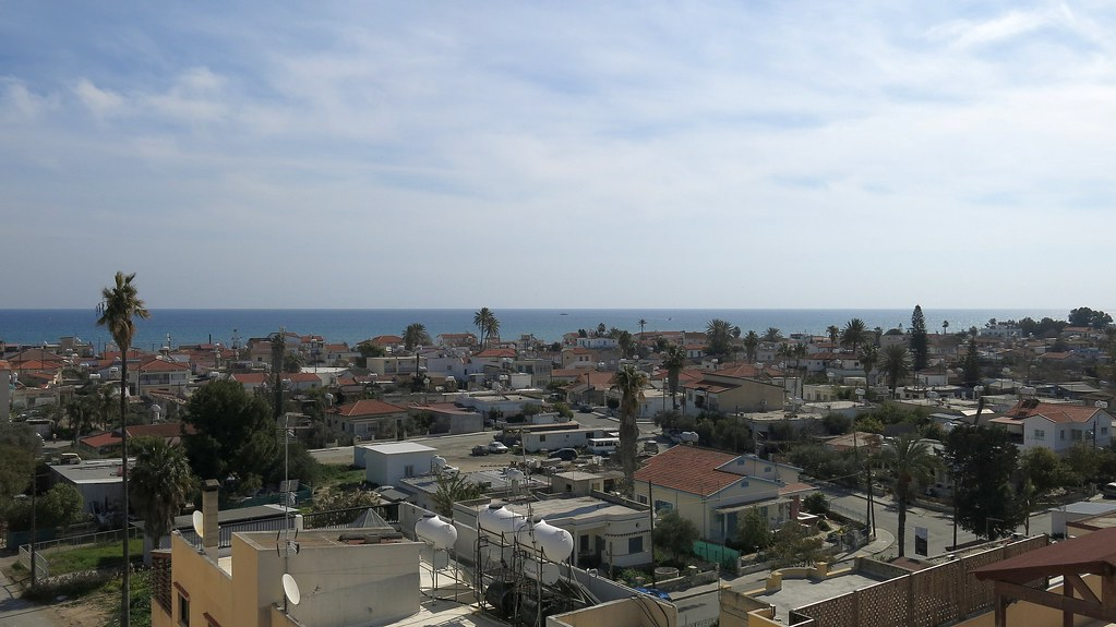 Palm Sea Beach Appartments Map Larnaca District Cyprus