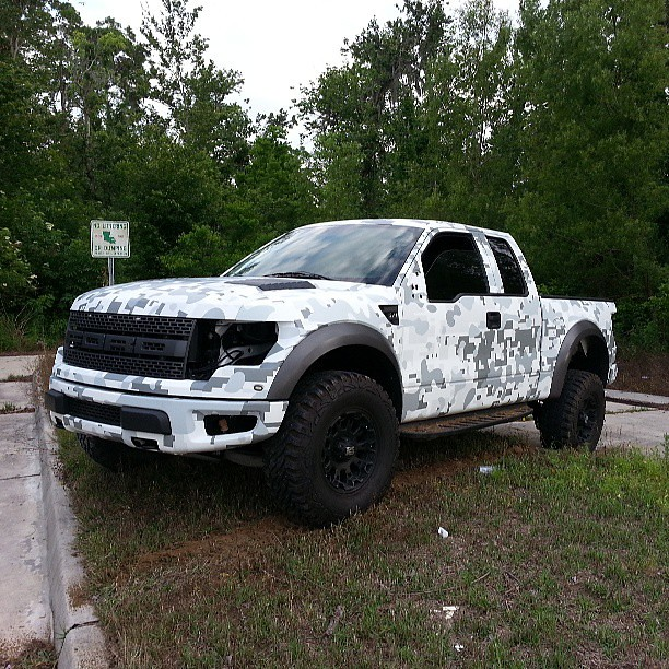 Snow Camo Ford Hat