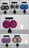 Crochet Earrings Collage